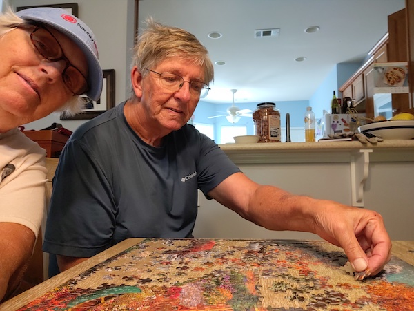 Dud and Jill do a puzzle
