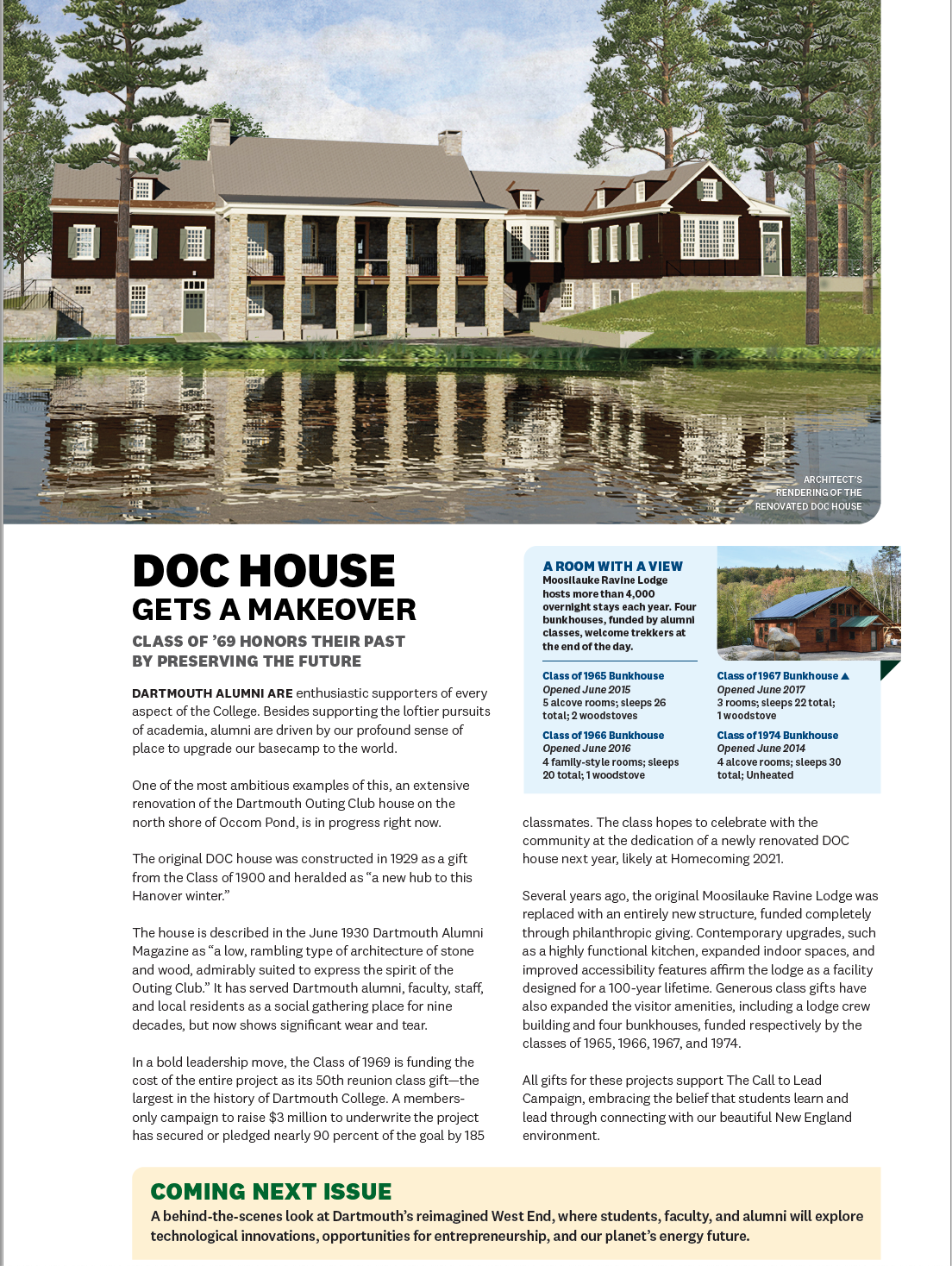 Occom Pond and DOC House project